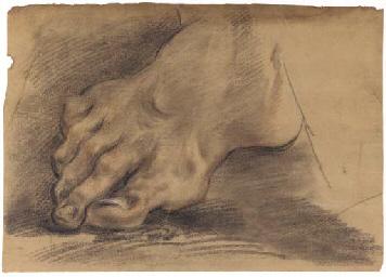 A foot (recto); Portrait of a