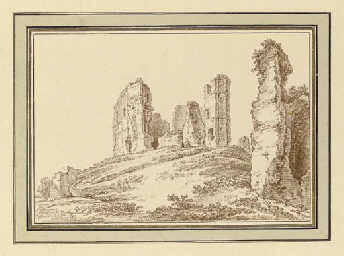 The ruins of the castle of Mon