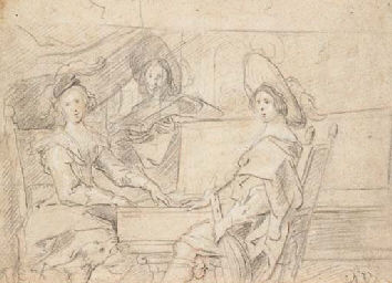 Three women playing music in a