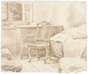 An interior with a chair by a