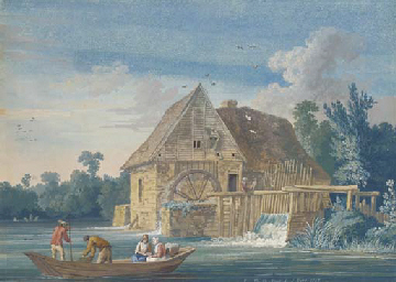 The water mill at Ivry with fi
