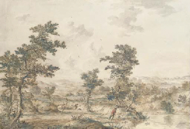 An extensive landscape with he