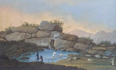 Two natural hot baths at Pisca
