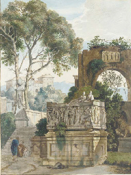 A classical landscape with two
