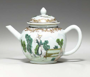 A EUROPEAN SUBJECT TEAPOT AND
