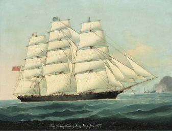The Ship Taitsing entering Hon