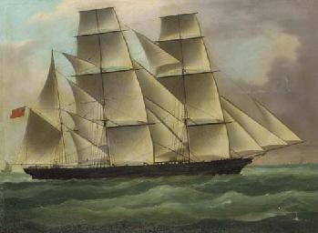A square rigger clipper ship u