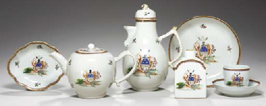 AN ARMORIAL MASONIC PART TEA A