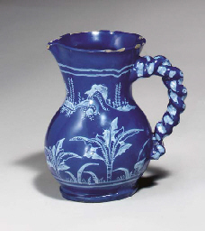 A FRENCH FAIENCE BLEU PERSAN M