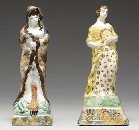 TWO ENGLISH PEARLWARE FIGURES