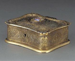 A Portuguese Gilt Box