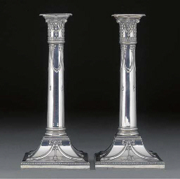 A Pair of George V Silver Cand