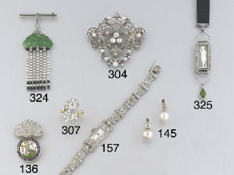 A lady's platinum, diamond and