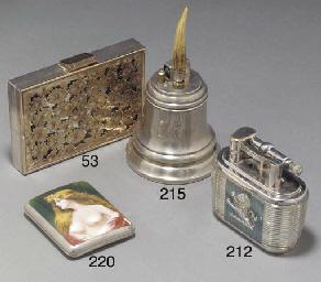 A Dunhill Lucas silver-plate a