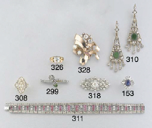 An emerald and diamond set Rus