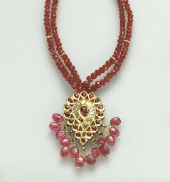 AN INDIAN RUBY, DIAMOND, POLYC