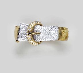 A DIAMOND AND BI-COLORED GOLD