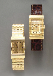 TWO GOLD WRISTWACTCHES, BY BOU