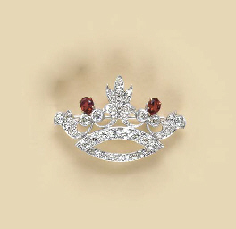 A DIAMOND, SPINEL AND 14K GOLD