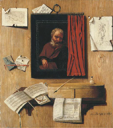 A trompe-l'oeil with a partial
