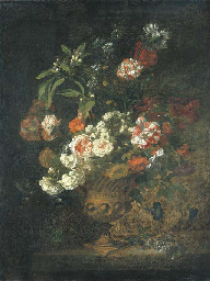 Peonies, narcissi, carnations