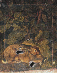 A hare in a forest