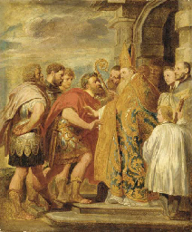 Saint Ambrose and the Emperor