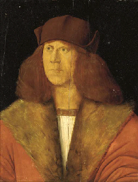 Portrait of a Man in a red fur