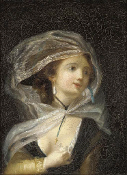 Young woman with a dove