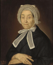 A portrait of a lady with lace