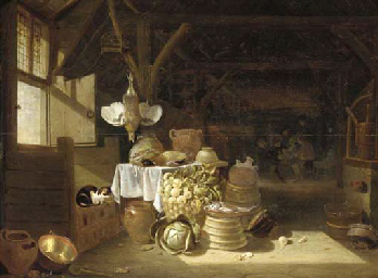 A kitchen interior with boors