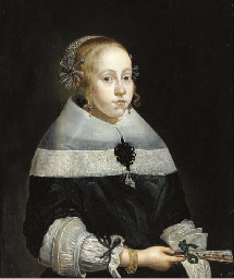Portrait of a young lady, bust