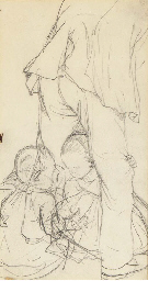 Study of two children playing;
