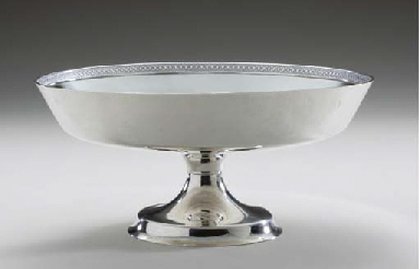 AN AMERICAN SILVER COMPOTE,