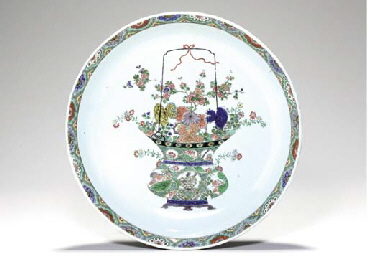 A LARGE FAMILLE VERTE DISH,