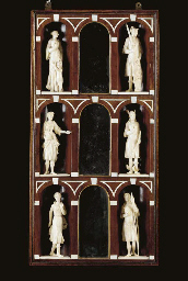 A GROUP OF SIX IVORY ALLEGORIC