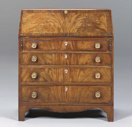 A LATE GEORGE III MAHOGANY AND