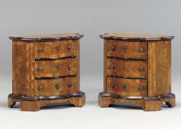 A PAIR OF CONTINENTAL INLAID W