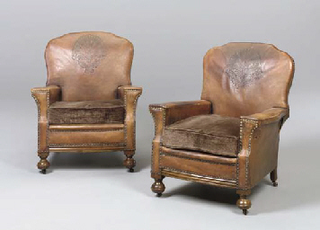 A PAIR OF ENGLISH LEATHER AND