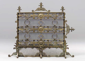 AN AMERICAN GILT AND PATINATED