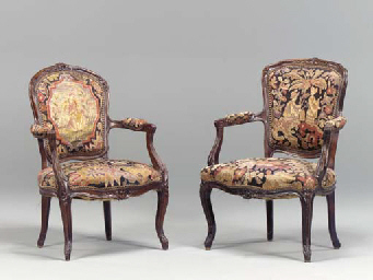 A MATCHED PAIR OF LOUIS XV STY