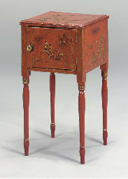 A GEORGE III STYLE RED JAPANNE