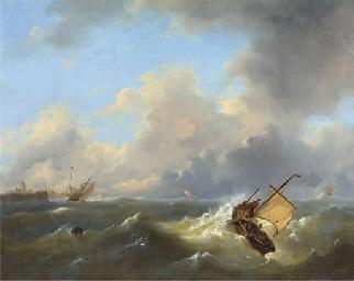 Shipping on a choppy sea by a