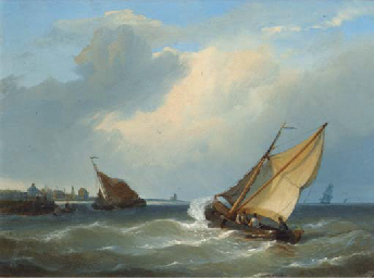 Entering a harbour in a stiff