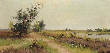 Brem: flowering heathland by a