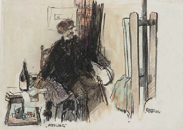 Atelier: an artist in his stud