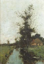 A stream in a polder landscape