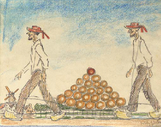 Carrying cheese, Edam