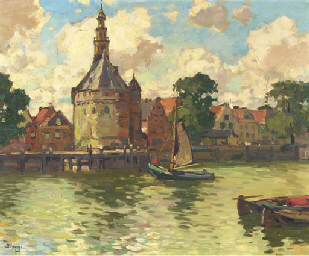View of the Hoofdtoren, Hoorn