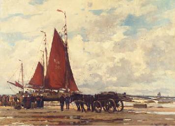 Fischer am Strand von Katwijk